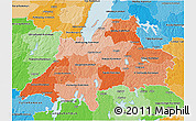 Political Shades 3D Map of Jönköpings Län