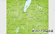 Physical Map of Jönköpings Län
