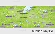Physical Panoramic Map of Jönköpings Län