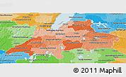 Political Shades Panoramic Map of Jönköpings Län