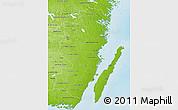 Physical 3D Map of Kalmar Län