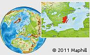 Physical Location Map of Kalmar Län