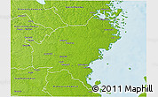 Physical 3D Map of Oskarshamn Kommun