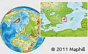 Physical Location Map of Oskarshamn Kommun, highlighted parent region