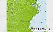 Physical Map of Oskarshamn Kommun