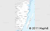 Silver Style Simple Map of Kalmar Län