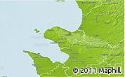 Physical 3D Map of Bastad Kommun