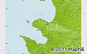 Physical Map of Bastad Kommun