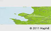 Physical Panoramic Map of Bastad Kommun