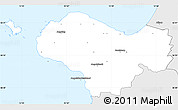 Silver Style Simple Map of Bastad Kommun