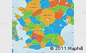 Political Map of Kristianstadt Län