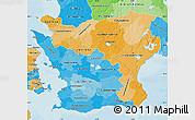 Political Shades Map of Kristianstadt Län