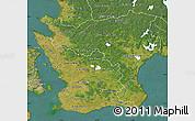 Satellite Map of Kristianstadt Län