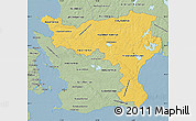 Savanna Style Map of Kristianstadt Län