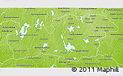 Physical 3D Map of Kronobergs Län