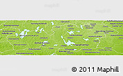 Physical Panoramic Map of Kronobergs Län