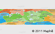 Political Shades Panoramic Map of Kronobergs Län