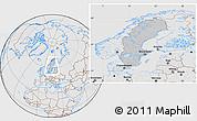Gray Location Map of Sweden, lighten, desaturated