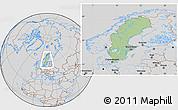 Savanna Style Location Map of Sweden, lighten, desaturated