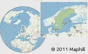 Savanna Style Location Map of Sweden, lighten, land only