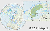 Savanna Style Location Map of Sweden, lighten