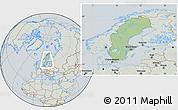 Savanna Style Location Map of Sweden, lighten, semi-desaturated