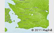 Physical 3D Map of Malmöhus Län