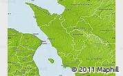 Physical Map of Helsingborg Kommun