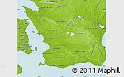 Physical Map of Malmöhus Län