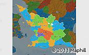 Political Map of Malmöhus Län, darken