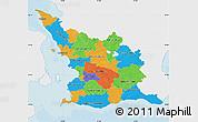 Political Map of Malmöhus Län, single color outside