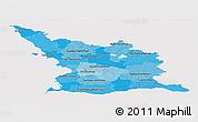 Political Shades Panoramic Map of Malmöhus Län, cropped outside