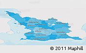Political Shades Panoramic Map of Malmöhus Län, single color outside
