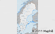 Gray Map of Sweden