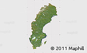 Satellite Map of Sweden, cropped outside