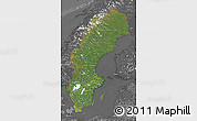 Satellite Map of Sweden, desaturated