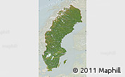 Satellite Map of Sweden, lighten