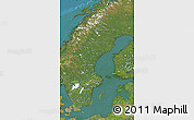 Satellite Map of Sweden