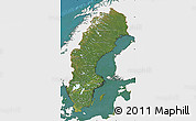 Satellite Map of Sweden, single color outside