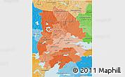 Political Shades 3D Map of Örebro Län