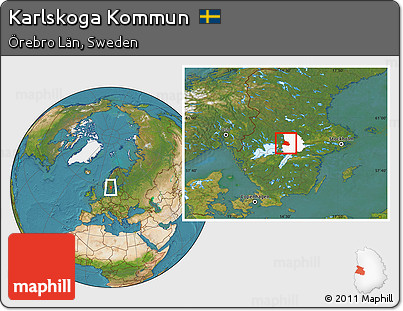 Free Satellite Location Map Of Karlskoga Kommun Highlighted - Karlskoga sweden map