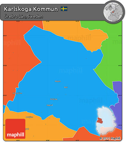 Free Political Simple Map Of Karlskoga Kommun - Karlskoga sweden map