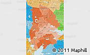 Political Shades Map of Örebro Län