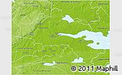 Physical 3D Map of Örebro Kommun