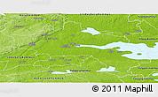 Physical Panoramic Map of Örebro Kommun
