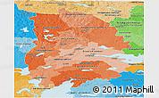 Political Shades Panoramic Map of Örebro Län