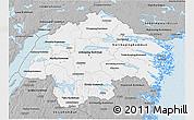 Gray 3D Map of Östergötlands Län