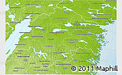 Physical 3D Map of Östergötlands Län