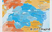 Political Shades 3D Map of Östergötlands Län