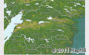 Satellite 3D Map of Östergötlands Län